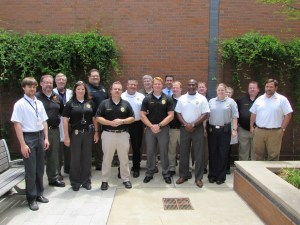 Administrators and staff of the West Tennessee Regional Forensic Center recently met with investigators from the Germantown Police Department as part of the center's outreach and education efforts.