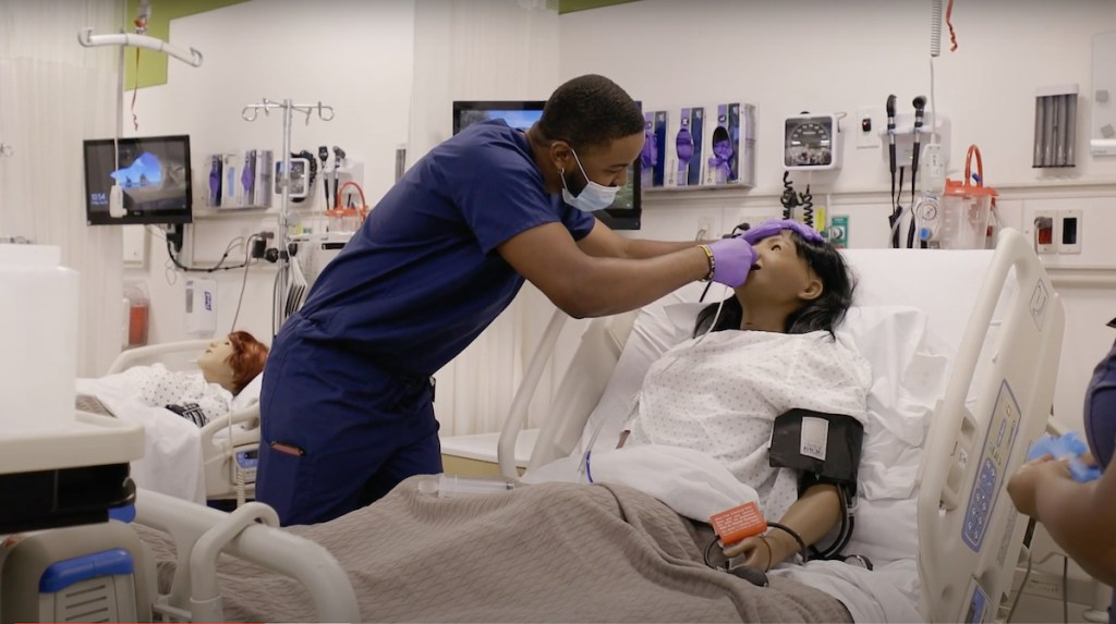 train on state-of-the art manikins in the Center for Health Care Improvement and Patient Simulation.