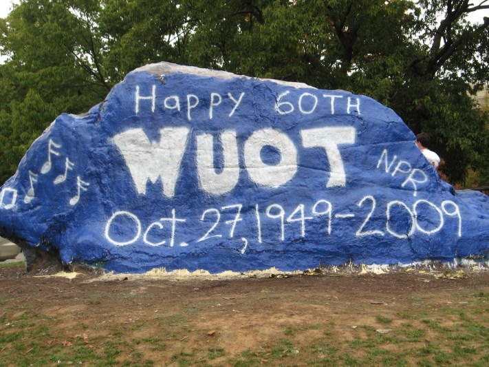 WUOT Celebrates 60th Anniversary by Painting the Rock