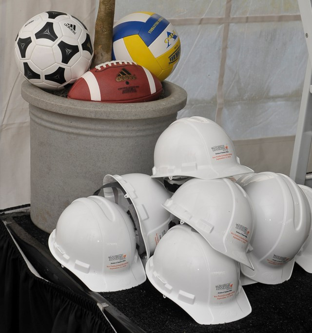 Hardhats and sports equipment