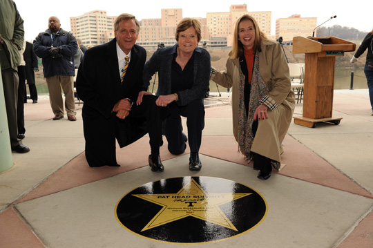 Pat Summitt Honored with a Star on Riverwalk
