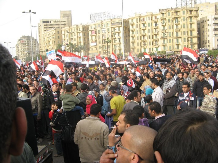 Crowds gathered in Cairo's Tahrir Square