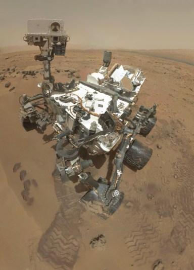 Self-portrait of Curiosity rover