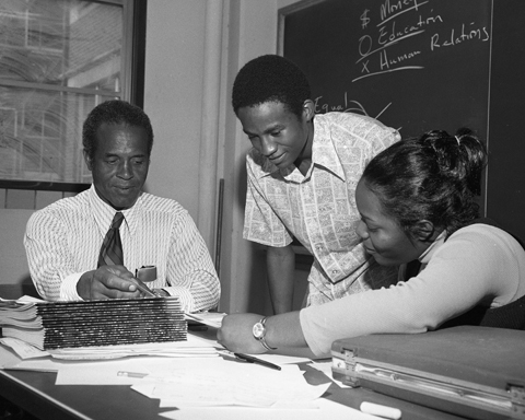 Fred-Brown-students