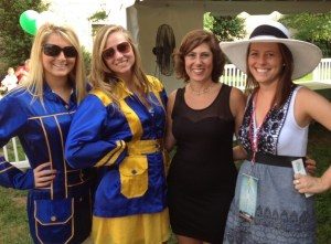 Lisa Fall, third from left, with some public relations students at the Derby Days fundraiser for the Scarecrow Foundation, which works to end hunger and malnutrition in Knoxville and East Tennessee.
