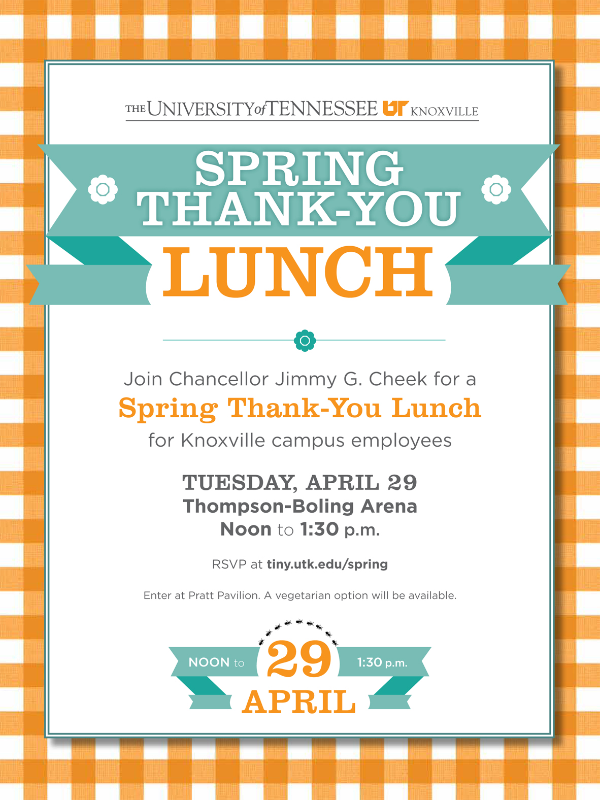 RSVP Now for Chancellors ThankYou Lunch for Campus Employees News