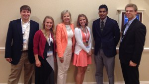 From left: Josh Scull, Kathryn Bradley, Debbie Mackey, Courtney Bradley, Paresh Patel, and Sam Smith.