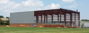 The Joan Cronan Volleyball Practice Facility, now under construction.