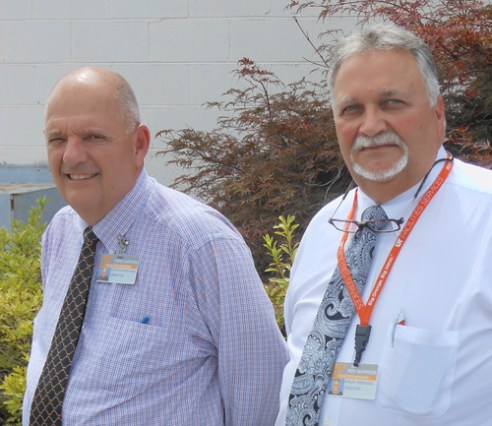 Facilities Services directors Terry Ledford, left, and Roy Warwick, right.