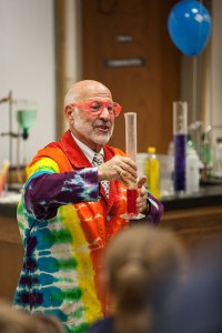 Al Hazari performs during the Magic of Chemistry show