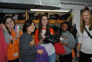 Students participating in the 2015 MLK Day of service.