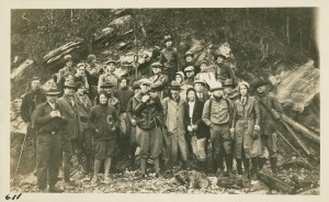 Smoky Mountains Hiking Club, circa 1930. From Smoky Mountains Hiking Club Records, 1926-1969. MS.0423. University of Tennessee Special Collections.