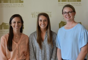 Morgan Faulk, Kristin Riggsbee and Marry Waddill of Farm to UTK.