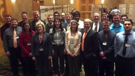 Radiochemistry Center of Excellence students and professors at the recent NNSA academic symposium in Bethesda, Maryland.
