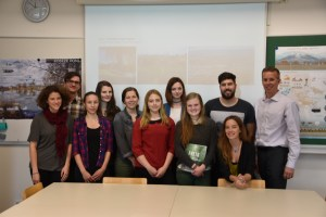 Brad Collett (far right), a Fulbright Scholar, began a semester-long experience in Slovenia this spring at the University of Ljubljana.
