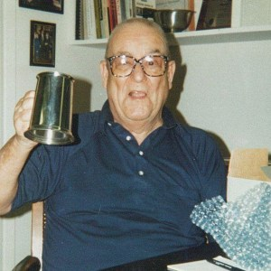 at his retirement party in 1996