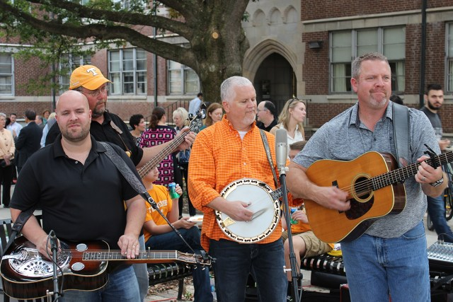 A live band provided bluegrass music for students, faculty and staff celebrating the naming of the Tickle College of Engineering on Thursday, Nov. 3.