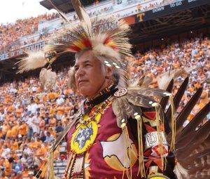Native American Student Association halftime show at Neyland Stadium.