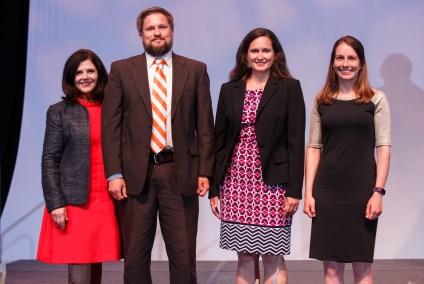 Success in Multidisciplinary Research - Chancellor Davenport, Assistant Professor Jon Hathaway, Assistant Professor Lisa Reyes Mason and Assistant Professor Kelsey Ellis.