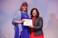 Alumni Public Service Award - Karen Armsey and Chancellor Davenport.
