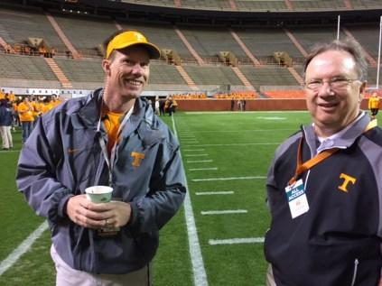 UT Athletics' David Elliott and Finance and Administration's Jeff Maples.