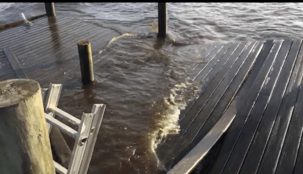 Kaylie Mulligan's family's dock