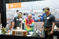 Al Hazari, professor of chemistry, conducts experiments at the Join the Journey kick-off event on September 22, 2017, at the Knoxville Convention Center. Photo by Steven Bridges