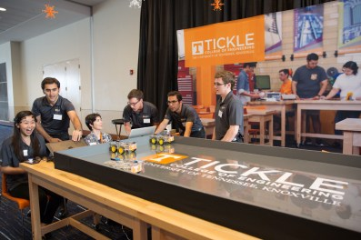 Tickle College of Engineering display at the Join the Journey kick-off event at the Knoxville Convention Center on September 22, 2017. Photo by Steven Bridges