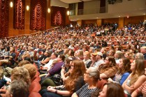 Cox Auditorium was filled to capacity with students, faculty, staff, and community members to hear Grandin speak.