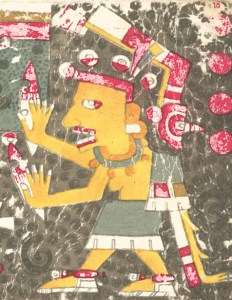 Mictecacihuatl, from the Codex Borgia