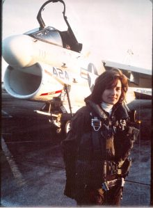 Rosemary Mariner in 1976 during training for an A7 aircraft.