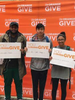 Students say thank you for Big Orange Give donations.