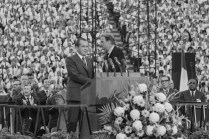 President Richard Nixon appearing at the Billy Graham Crusade at Neyland Stadium, May 28, 1970.
