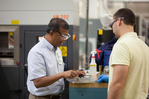 UT-ORNL Governor's Chair of Advanced Manufacturing ?Suresh Babu (left).