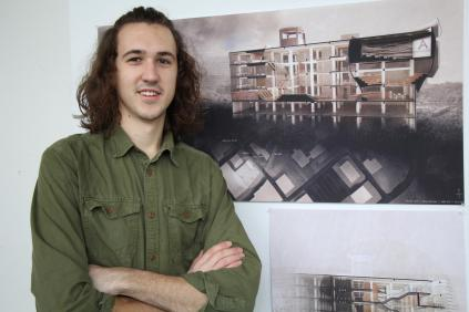 Niklos Toldi, a third-year student in the School of Interior Architecture in the College of Architecture and Design at the University of Tennessee, Knoxville, has been named the first-place winner of the 2018 Gensler Brinkmann Scholarship in recognition of his academic excellence, design ability, and creative expression.