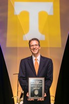 Outstanding students and faculty members are recognized during the Chancellor's Honor Banquet at the Knoxville Convention Center on Tuesday, April 17, 2018. Here is Doug Stuart, winner of Alexander Prize. ..Photo by Erik Campos..41234