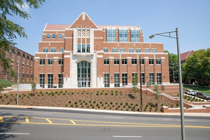 UT's Ken and Blaire Mossman Building, a six-floor facility designed for collaborative research and featuring the latest in teaching technology, is among the many new buildings and upgraded facilities changing the face of campus in fall 2018.