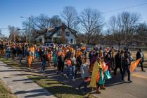 UT students, faculty, and staff joined the Knoxville community for the annual Martin Luther King Jr. Day parade on January 18, 2018. Photo by Steven Bridges.