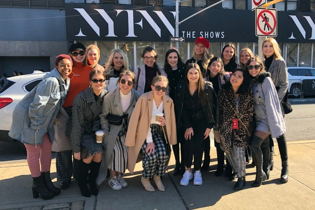 Ashley Sullivan, Fashion Week Group Photo