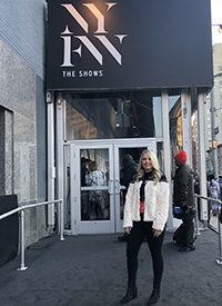 Ashley Sullivan, a senior in retail and consumer sciences in UT's College of Education, Health, and Human Sciences, recently returned from New York Fashion Week courtesy of IMG College Licensing and an internship in UT's Office of Trademark Licensing.