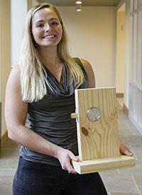 """UT graduate student Erica Grant won first place in the """"What's the Big Idea? 48-hour Launch"""" competition on March 3 in Knoxville for her start-up Quantum Lock."""