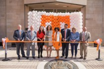 Welcome Home: Ribbon Cutting Ceremony during the Student Union Grand Opening at Student Union on March 29, 2019. Photo by Steven Bridges