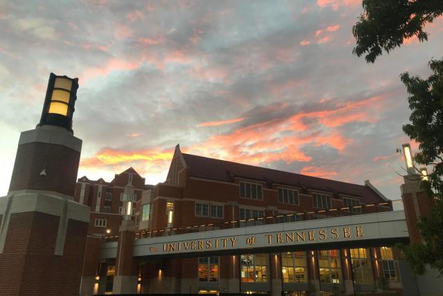 Sunset behind the Student Union. Photo by Andrew Kochamba.