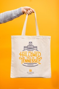 On a Hallowed Hill in Tennessee canvas tote product photos. Photo by Steven Bridges