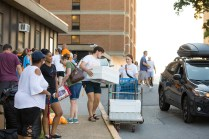Move in weekend at Carrick Hall on August 17, 2019. Photo by Steven Bridges/University of Tennessee