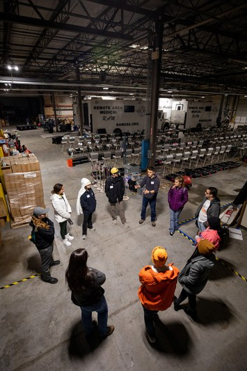 Students participate in a MLK Day of Service