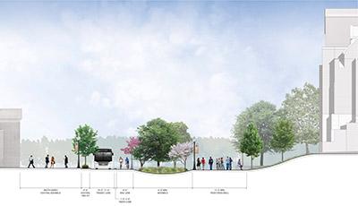 rendering of Pedestrian Walkway Expansion