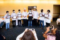 Graduate from a culinary boot camp with Chef Greg at the UT Conference Center on September 16, 2020. Photo by Steven Bridges/University of Tennessee