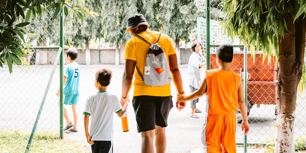Kyle Phillips, football, in Vietnam during summer 2017. Photo: Caitlin Ryan