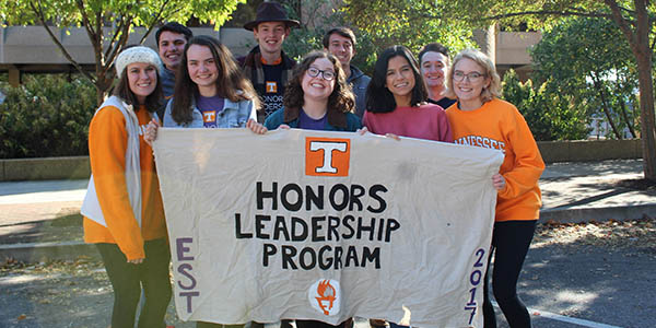 Maria Urias spends time with her cohort members in the Honors Leadership program